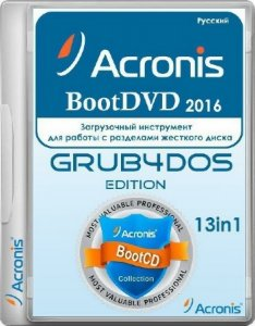 Acronis BootDVD 2016 Grub4Dos Edition 38 (4/16/2016) 13 in 1